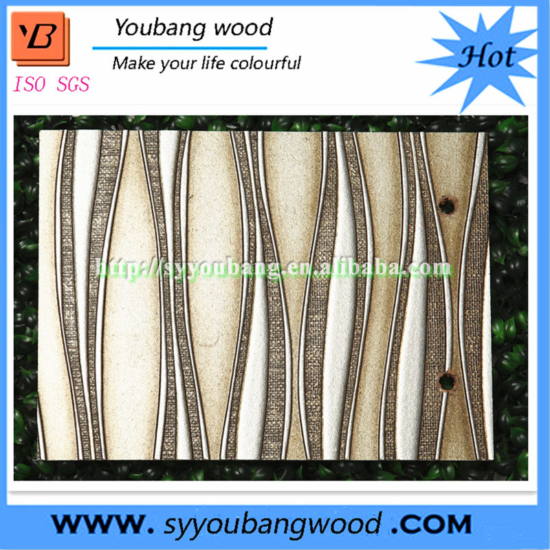 Embossed mdf board wall panel 3D MDF wall board for wall decoration