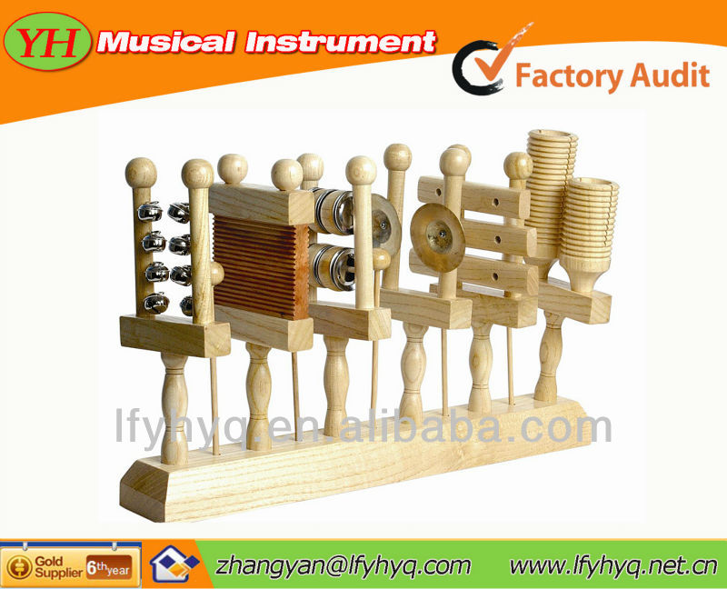Educational wholesale multiple color wood Musical instrument set toys