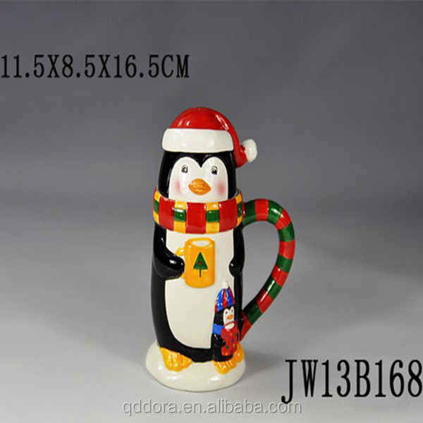 2014 Lastest Low Price Ceramic Wholesale Christmas Cups/Christmas Design Creative Coffee Mug manufacturer