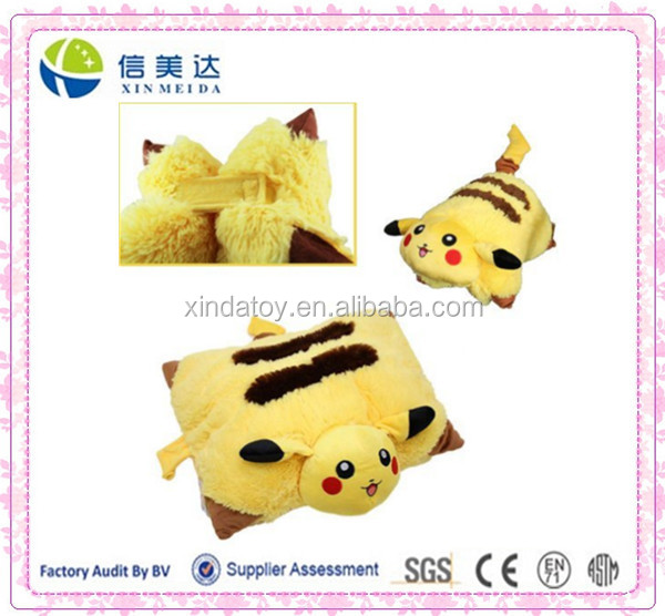 Pokemon Pikachu Pet Pillow Transforming Cushion Soft Plush toy