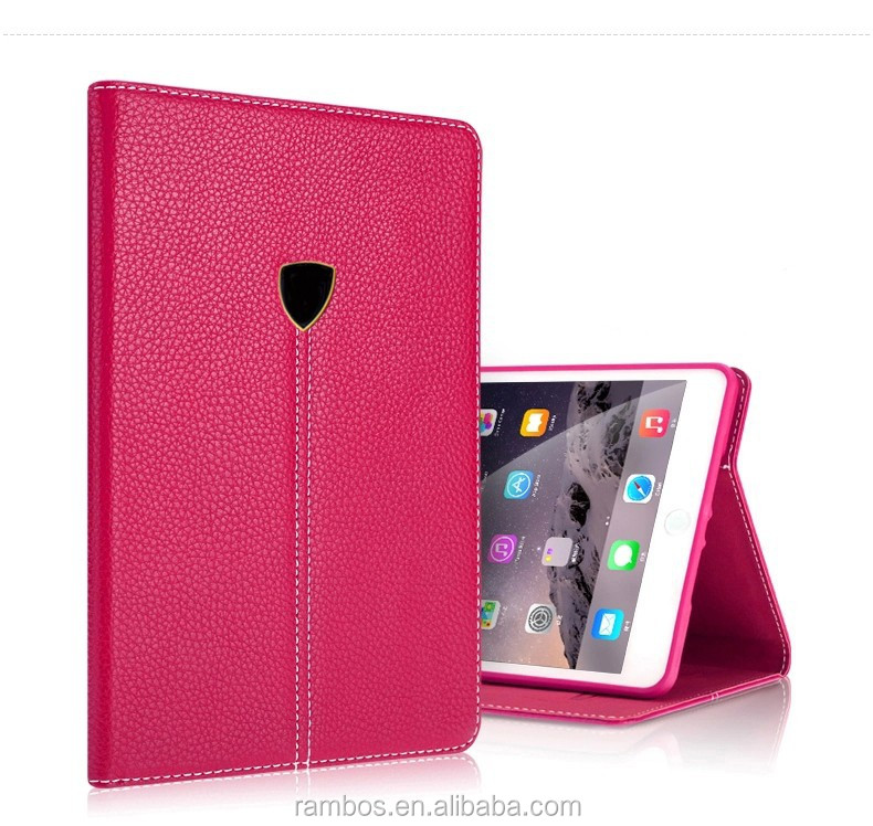 With Card Slot Holder Tablet Cover Case Leather Flip Stand Folding Case for iPad 2 3 4