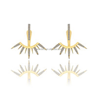 Fashion Zirconia Arrow Earings For Women 2017 Jewelry Wholesale China Brincos Ear Jacket
