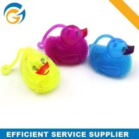 Duck Shaped Soft Rubber Ball Toys With Light for Kids