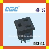 China Power socket DCZ-04 three pins CE ISO9001 high quality electrical socket pins