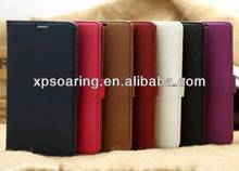 High quality credit card leather case for Galaxy S5 case cover