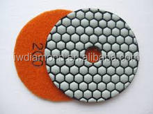 200 grit 4inch One set Hand Dry Granite Polishing Pads/Buffing Discs for Porcelain Tile