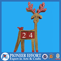 wooden christmas reindeer table decoration advent calendar block
