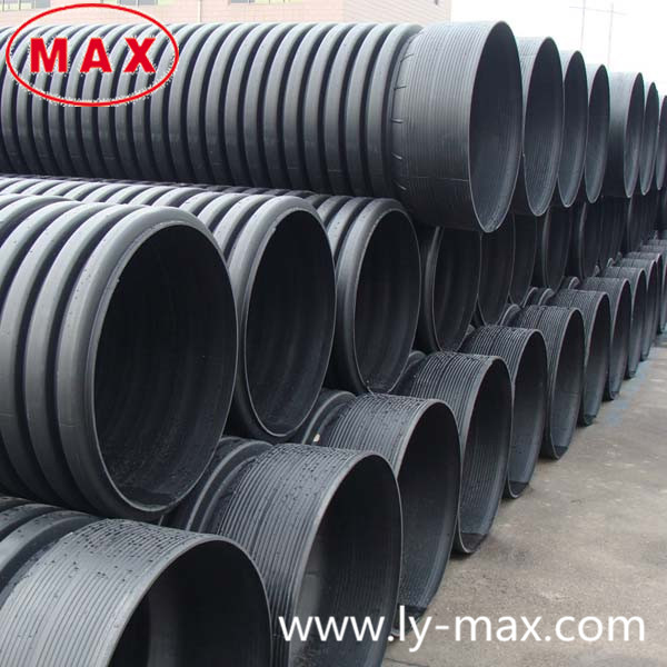 High Pressure Corrugated 10 inch Drain Pipe Double Wall Corrugated Drainage Pipe