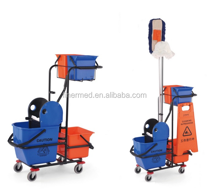 hotel housekeeping cleaning trolley cart