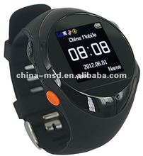 2012 Newest factory unique GPS tracker watch PG88 quad band watch phone