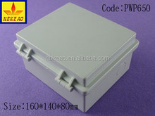 IP66 protection level plastic hinge type waterproof electrical box