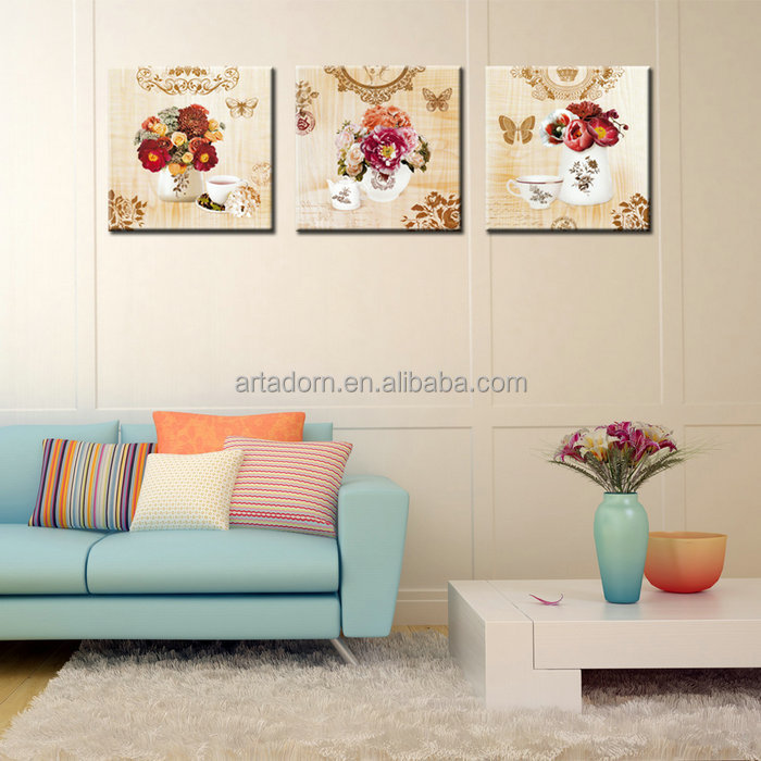 Simple Decorative Abstract Art Flower Vase Painting Designs