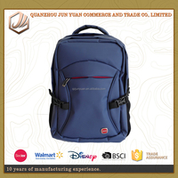 Wholesale brand name strong computer backpack laptop with zippers
