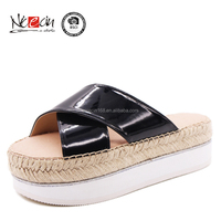 2016 new latest design ladies high heel hemp rope sandals