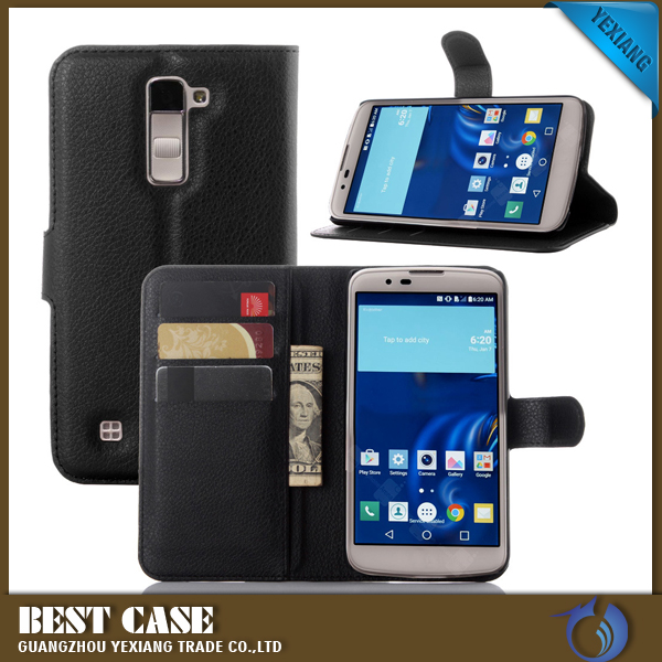 Top Selling Products Cell Phone Leather Flip Cover Case For LG <strong>K10</strong>