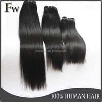 8A grade Unprocessed Quality wholesale Brazilian Virgin Human Hair Extension ,straight hair weft 16 inch