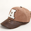 3D embroidery custom curve leather brim wholesale snapback baseball hat