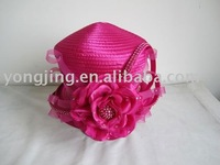 2012 fall satin braid hat with flower
