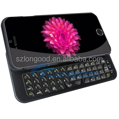 Mini ultra-slim Sliding Bluetooth wireless keyboard case for iphone