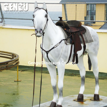 High simulation life size horse in theme park equiment