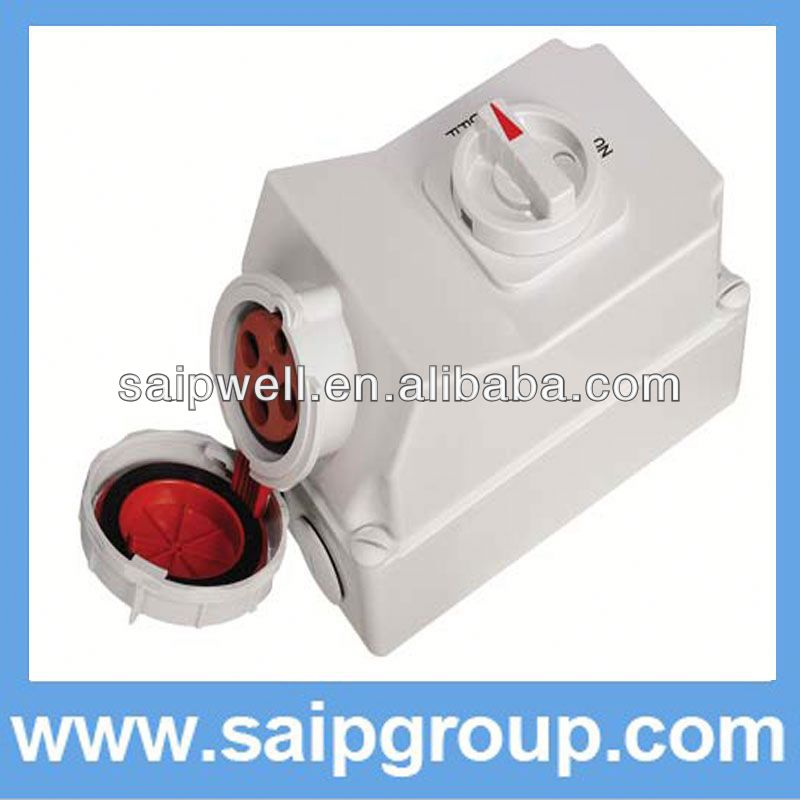 HOT Mechanical Industrial Socket electric wall switch with socket outlet with Switch and Locks SP5110