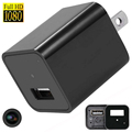 Mini USB Hidden Camera 1080P AC Wall Plug Adapter Nanny Camera For Home Protection With External Memory Card Slot