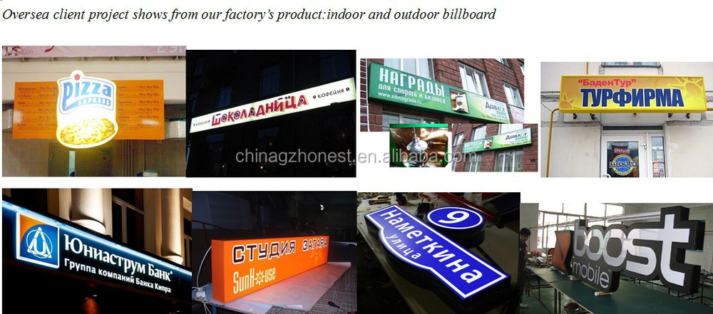 led shop billboard signage, external sucking sign box ,3D outdoor round light box