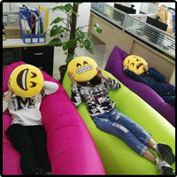 Portable plastic inflatable bed air-filled bean bag sofa