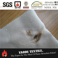 BS5852 FR sofa fabric with TC backing