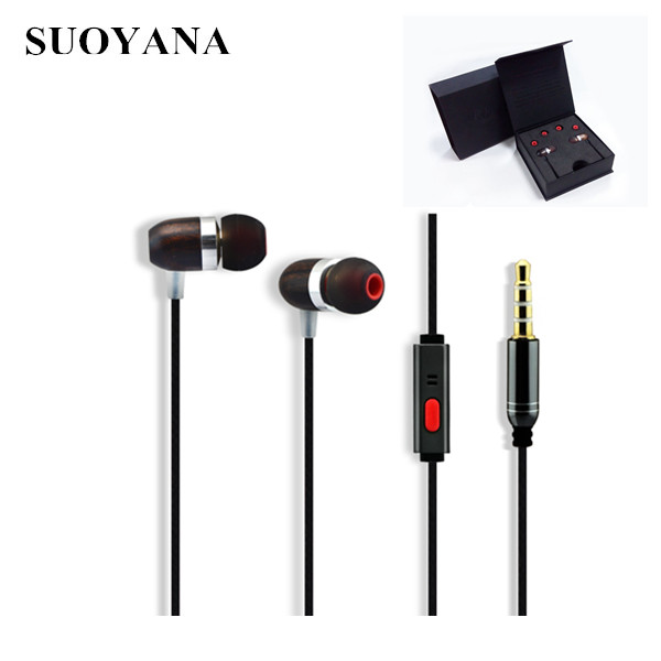 Noise Cancelling Hands Free Mobile Wooden Earphone Wholesale With Factory Price