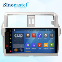 2015 high quality 10.1 inch Android Car DVD Player with gps for Toyota Prado, wholesales car dvd player from Chinese factory