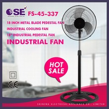 "18 inch metal blade pedestal fan industrial cooling fan 18"" industrial pedestal fan FS-45-337"