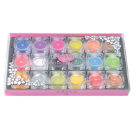 Good quality acrylic powder 18colors nail carving powder