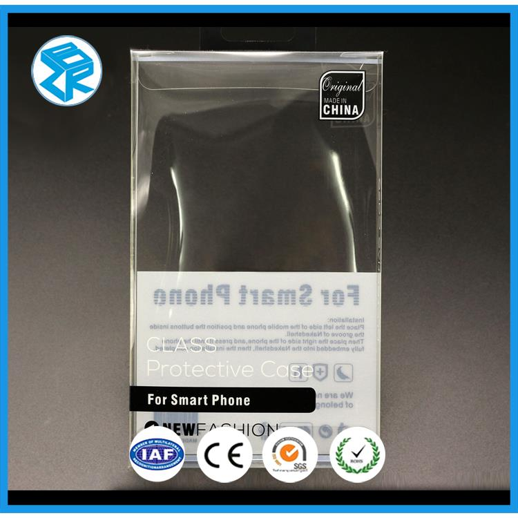 Pvc/Pet/Pp Folding Mobile Plastic Packaging Clear Packing Blister Case Phone Box