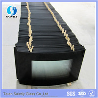 tempered door glass for electric fireplace