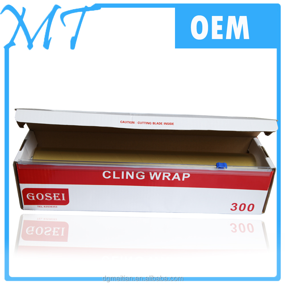 high good stickness pvc cling film for food wrap