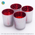 TOP1 Christmas snow yufeng laser engraving glass candle holder factory yufengcraft www.yufengcraft.cn