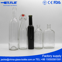 lead free Safely packing factory price decorative honey glass bottle