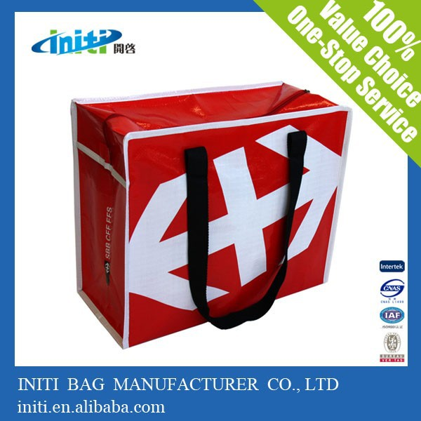 PP shopping zipper bag | wholesale zip lock large luggage bag for packing