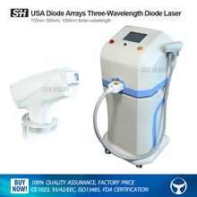 dismountable diode laser hair removal machine with 3 wavelength( 755nm, 808nm & 1064nm)
