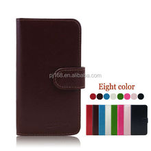 Simple wallet design leather cover flip case for Blackberry Q5