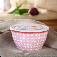 Elegant Style New Bone China Sealed Bowl with Silicon Lid of Oriental Manor