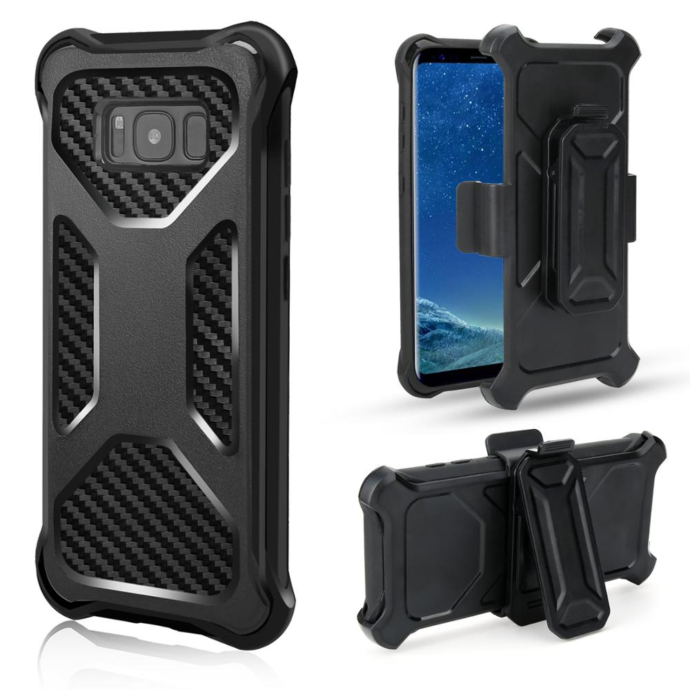 A017 2018 Heavy Duty Armor Cover Shock Reduction Cell Phone Case With Belt Clip Holster for Samsung Note 9 10 pro <strong>A10E</strong>
