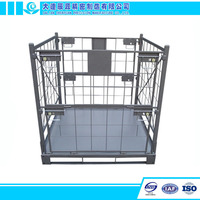 Warehouse Wire Mesh Container Metal Bin Storage Box