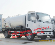 China Best Price 190HP Japanese Suction Sewage Truck, 6m3 Vacuum Sewage Suction Truck for Dirty Water on Sales