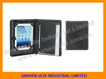 PU or PVC Portfolio with notepad for note pad