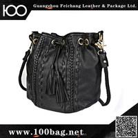 Black Cashmere Shoulder Bag Lady New York Bag