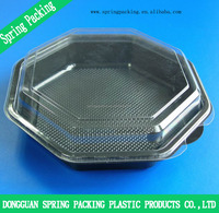 Plastic disposable food container box packaging for cake /fruit box