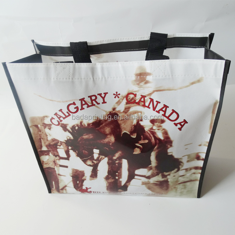Promotion Colorful Reusable Printed PP Woven Shopping bag
