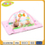 Hot sale lovely pink square mat baby play mat